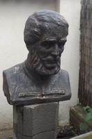 Ritka Kossuth Lajos kő szobor kb 65cm 90Kg mellszobor  bronz irozott