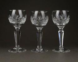 1C808 Csiszolt üveg kristály likörös röviditalos pohár 3 darab