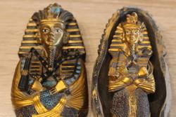 Csodás Nefretiti /Nefertiti/ fáraó szarkofág  Made In Egyiptom   22cm