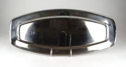 1C843 Nagyméretű rozsdamentes fém tálca kínáló halas tálca 49 cm