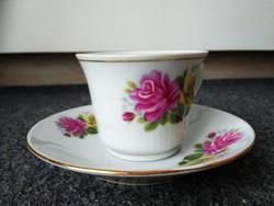 Kínai porcelán kávés csészék alátéttel (virágos mintával)