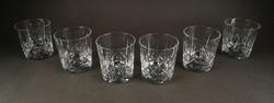 1C804 Csiszolt üveg kristály Whiskey pohár készlet hat darab
