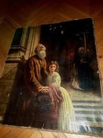 Munkácsy szignós olaj vászon festmény
