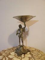 Réz figurális asztalközép,kínáló