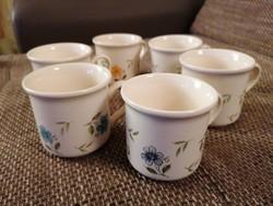 6 db Bilton angol csésze hibátlan állapotban, hangulatos virágmintaval