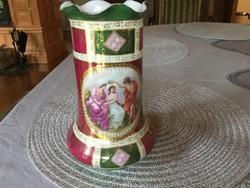 Royal Oepiag, osztrák festményes váza, 20 centis