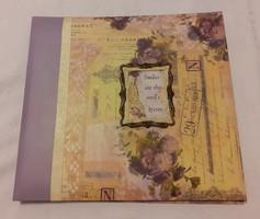 Nagyméretű, szép vintage stílusú fotóalbum (fényképalbum)  34 x 32 cm