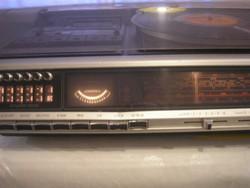 N7 N9 Grundig zeneszekrény rádió ,lemezjátszó ,magnóval ritkaság+mikrofon