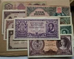 Pengő bankjegyek