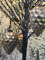 Hatalmas Káptázatos fújt üveg retro karácsonyi dísz karacsonyfadisz asztali dísz