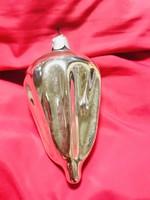 Régi retro antik üveg karácsonyfadísz ,ejtőernyő