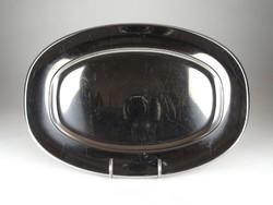 1C844 Nagyméretű rozsdamentes fém tálca pecsenyés tál 41.5 cm