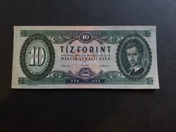 Hajtatlan 10 Forint 1962 Ef., bal alsó saroknál papírtörés.