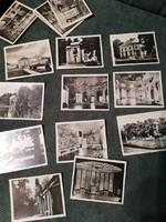 Fekete-fehér fotók német kastélyok-villák, papírtokban 1930-40-es évek,  16 db