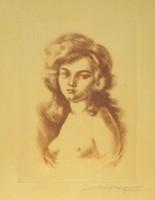 Merényi Rudolf : Női félakt 1925