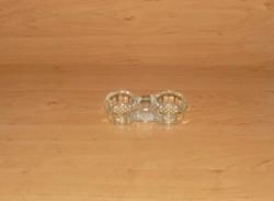 Retro üveg asztali sótartó (14/d-2)