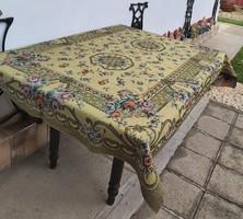Retro virágos,  Gyönyörű  szövött ágytakaró, takaró, terítő,  asztalterítő nosztalgia darab