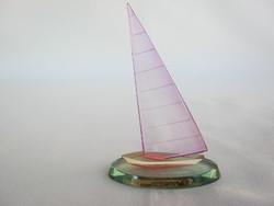 Retro balatoni emlék plexi vitorlás hajó SIÓFOK
