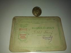 Budapesti Helyi Érdekű Vasutasok Otthona + 1 gomb B.Sz.K.Rt.