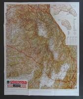 1C859 SZÉKELYFÖLD térkép M.KIR. HONVÉD TÉRKÉPÉSZET 67cm x 83cm