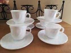 Francia arcopal tejüveg kávés 6 személyes