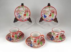 1C049 Régi jelzett kínai porcelán kávéscsésze 3 darab