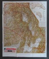 1C860 SZÉKELYFÖLD térkép M.KIR. HONVÉD TÉRKÉPÉSZET 67cm x 83cm