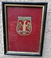 Régi hímzett MH 2.Katonai Kerület Parancsnokság (szőtt) kép AUKCIÓ!! (Ér-91)
