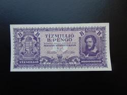 10 millió B. - pengő 1946 Hajtatlan bankjegy !  02
