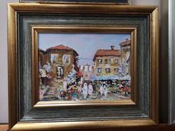 Mediterrán Séta festmény eladó
