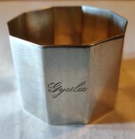 Ezüst szalvétagyűrű - Gyula - név vésettel