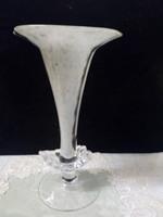 Csodaszép különleges fújt művészüveg váza