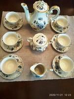 Zsolnai búzavirágos kávés készlet