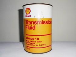 SHELL olajos doboz - motor olaj flakon - 1 literes - 1970-1980-as évekből