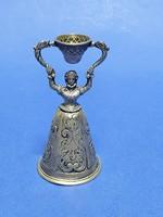 Csengő alakú pohár, ezüst