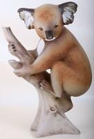Ritka Royal Dux Bohémia nagyméretű Koala Medve
