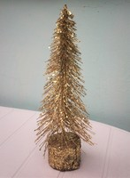 Karácsony, fenyőfa aranyban 30 cm, eredeti csomagolásban