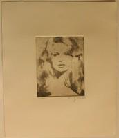 Andy Warhol pazar rézkarca Brigitte Bardotról!