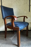 Art deco bőr kárpitos íróasztal szék