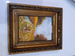 Női portré jelzett festmény
