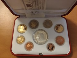 Vatikán 2015 Forgalmi sor - Proof (tükörveretes) - ezüst érmével