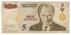 5 líra 2005 Törökország