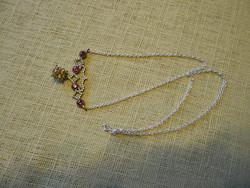 Ezüst nyakék rubin és citrin kővel