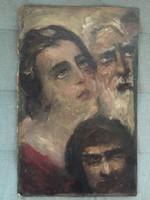 Mária és József a gonosszal, Benczúr szignóval
