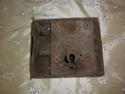 Antik nagyméretű koivácsolt vas ajtó zár