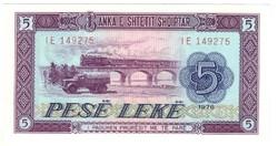 5 leke 1976 Albánia UNC