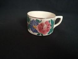 Régi, antik Kispest fajansz csésze , bögre