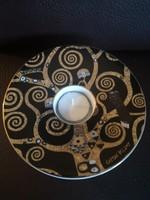 Goebel Gustav Klimt - Der Lebensbaum porcelán mécsestartó fémdobozban, új