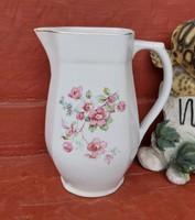 Gyönyörű Ritka Drasche  Kőbányai Porcelán virágos  kancsó, Gyűjtői darab