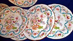 Sarreguemines süteményes tányérok 6 db együtt Minton dekorral.